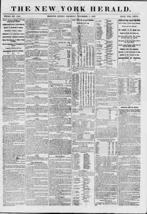 THE NEW YORK HERALD. WHOLE NO. 7735. MORNING EDITION-THURSDAY, NOVEMBER 5, 1857. PRICE TWO CENTS. Arrival of the City of...