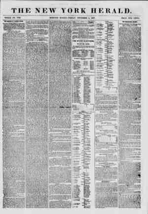 THE NEW WHOLE NO. 7736. MORNING YORK HERALD. EDITION-FRIDAY, NOVEMBER 0, 1857. PRICE TWO CENTS. THE ROMANCE CF A LUNATIC...