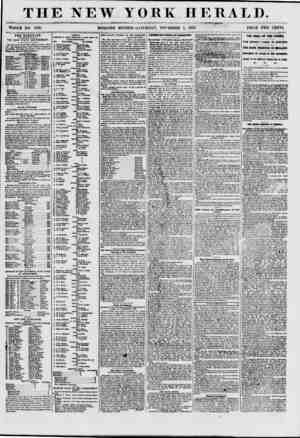 """THE NEW YORK HERALD. 9 ' ~~ ? ? - ? ; ~~ WHOLE NO. 7737. MORNING EDITION? SATURDAY"""", NOVEMBER 7, 1857. PRICE TWO CENTS. THE"""
