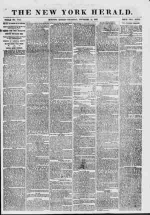THE NEW WHOLB NO. 7742. MORNING YORK HERALD. EDITION-THURSDAY, NOVEMBER 12, 1857. PRICE TWO CENTS. MB i'AKK AND T0BPI1X8...