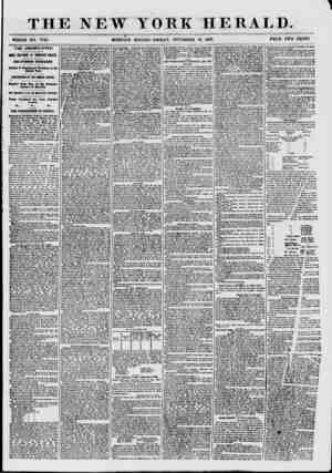 """THE NEW ? MORNING YORK HERALD. EDITION? FRIDAY"""", NOVEMBER 13, 185T. PRICE TWO CENTS. # THE UNEMPLOYED. MORE MEETINGS IN..."""