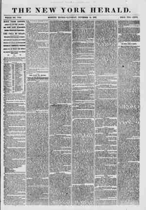 THE NEW WHOLE NO. 7744. MORNING i ? YORK HERALD. EDITION-SATURDAY, NOVEMBER 14, 1857. PRICE TWO CENTS. NEWS FROM EUROPE....