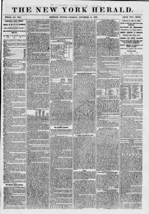 """THE NEW WHOLE NO. 7747. YORK HERALD. EDITION-TUESDAY"""", NOVEMBER 17, 1857. PRICE TWO CENTS. ADDITIONAL FROM EUROPE. ARRIVAL OF"""