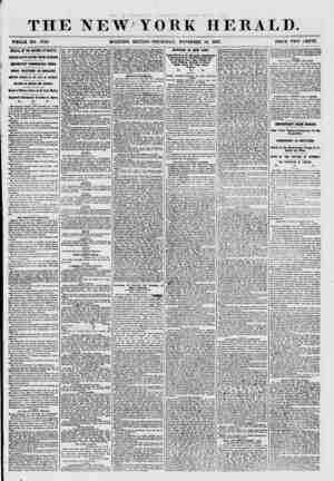 THE NEW YORK HERALD. WHOLE NO. 7749. MORNING EDITION? THURSDAY, NOVEMBER 19, 1857. PRICE TWO CENTS. ARRIVAL OF THE NIAGARA AT