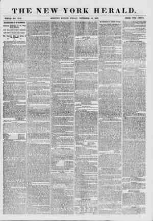 """THE NEW Y WHOLE NO. 7750. MORNING EDITION OKK HERAT, O. -FRIDAY"""", NOVEMBER 20, 1857. PRICE TWO CENTS. ASSASSINATIONS IN THE"""