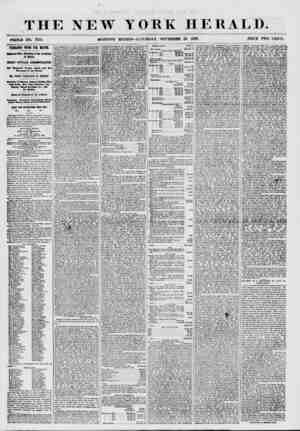 THE NEW YORK HERALD. ' WHOLE NO. 7758. MORNING EDITION? SATURDAY, NOVEMBER 28. 1857. PRICE TWO CENTS. FEBHANDO WOOD FOR...