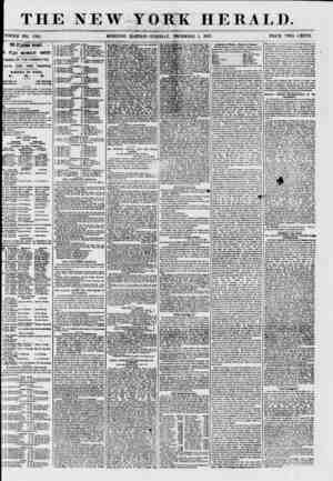 THE NEW YORK HERALD. WHOLE NO. 7761. MORNING .EDITION? TUESDAY, DECEMBER I, 1857. PRICE TWO CENTS. THE EJECTION TO-DAT. . |E