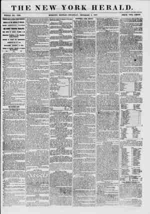 THE NEW YORK HERALD. WHOLE NO. 7763. MORNING EDITION-THURSDAY, DECEMBER 3, 1857. PRICE TWO CENTS. THREE DAYS LATER FROM...