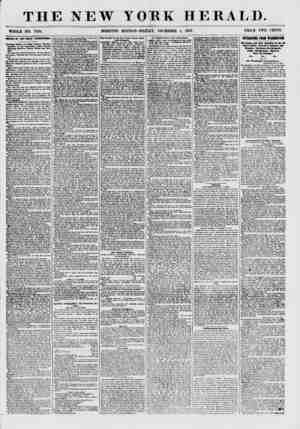 THE NEW YORK HERALD. WHOLE NO. 7764. MORNING EDITION? FRIDAY, DECEMBER 4, 1857. PRICE TWO CENTS. IEITDIC OF THE POLICE...