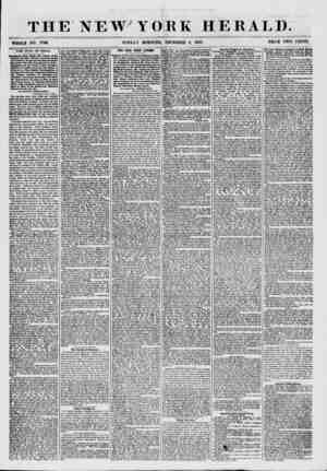 THE NEW' YORK HERALD. TfHOLB NO. 7766. SUNDAY MORNING, DECEMBER 6, 1857. PRICE TWO CENTS. THE WAR IN INDIA. l?i1?Ul*en<* from