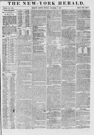 THE NEW YORK HERALD. WHOLE NO. 77(57. ' MORNING EDITION-MONDAY, DECEMBER 7, 1857. PRICE TWO CENTS. THIRTY- FIFTH CONGRESS. ?