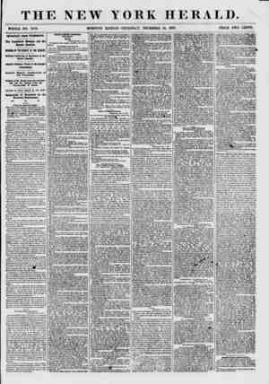 THE NEW YORK HERALD. WHOLE NO. 7770. MORNING EDITION-THURSDAY, DECEMBER 10, 1857. PRICE TWO CENTS. IMPORTANT FROM WASHINGTON.