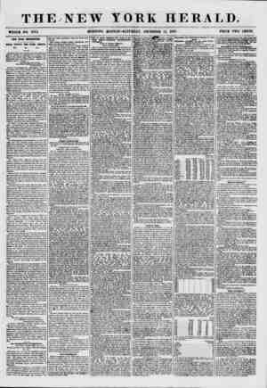 """THE NEW YORK HERALD. WHOLK NO. 7772. MORNING """"EDITION? SATURDAY, DECEMBER 12, 1857. PRICE TWO CENTS. THE UTAH EXPEDITION...."""