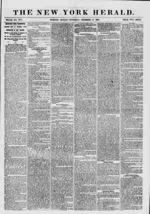 THE NEWYORK HERALD. WHOLE NO. 7777. MORNING EDITION-THURSDAY, DECEMBER 17, 1857. PRICE TWO CENTS. IMPORTANT FROM WASHINGTON.