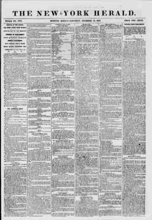 THE NEW Y WHOLE NO. TT79. MORNING EDITION ORK HERALD. SATURDAY, DECEMBER 19, 1857. PRICE TWO CENTS. ARRIVAL OF THE CANADA.