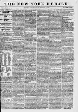 THE NEW YORK HERALD. WHOLE NO. 7788. MORNING EDITION-MONDAY, DECEMBER 28, 1857. PRICE TWO CENTS. IMPORT AIT FBOl HCAR1GBA.