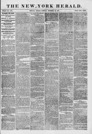 THE NEW.-Y OBK HERALD. WHOLE NO. 7789. MORNING EDITION-TUESDAY, DECEMBER 29, 1857. PRICE TWO CENTS. THE BETUBI OF GEN....
