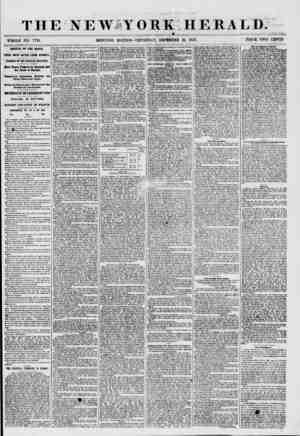 THE NEWIYORK HERALD. WHOLE NO. 7791. MORNING EDITION? THURSDAY, DECEMBER 31, 1857. PRICE TWO CENTS. ARRIVAL OF THE ARAGO....