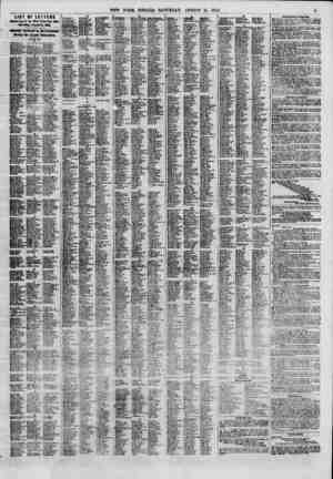 LIST OF LETTERS Bwaai-tng in tht Sew York Post OiSkw Snturfay, Angort 11,1860. OflcUltf Published in the Newspaper flnTiug