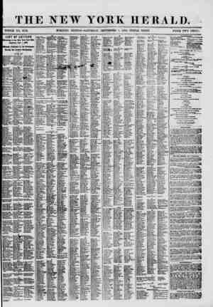THE NEW YORK HERALD. WHOLE NO. 8759. MORNING EDITION-SATURDAY, SEPTKMBKK 1, 1 WO.-TRIPLE SHEET. PRICE TWO CENTS. [LIST OF...