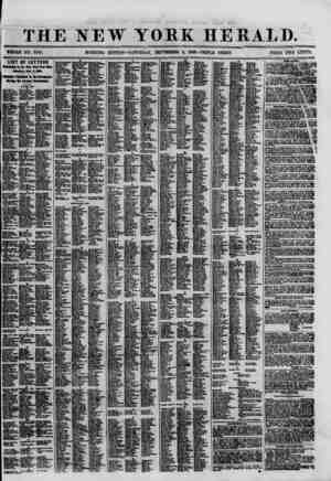 Li THE NEW YORK HERALD. WHOLE NO. 8766. MORNING EDITION-SATURDAY, SEPTEMBER 8, 1860.-TRIPLE SHEET. PRICE TWO C0MT3L LIST OF