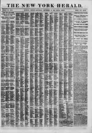 THE NEW YORK HERALD. WHOLE NO. 8173. MORNING EDITION-SATURDAY, SEPTEMBER 15, 1860.-TRIPLE SHEET. ? PRICE TWO CENTS. LIST OF