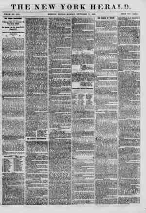 THE NEW YORK HERAT.!). WHOLE NO. 8775. MORNING EDITION-MONDAY, SEPTEMBER 17, 1860. PRICE TWO CENTS. THE Ylmm PROGRAMME. I...