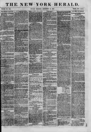 THE NEW YORK HERALD. WHOLE NO. 8781. SUNDAY MORNING, SEPTEMBER 23, 1860. PRICE TWO CENTS. BABQH BXIFEEW AT TH1 WEST. The...