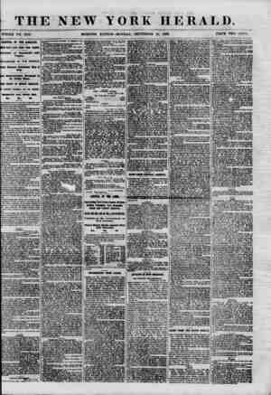 THE NEW YORK HERALD. WHOLE NO. 87821 MORNING EDITION-MONDAY, SEPTEMBER 24, 1860. PRICE TWO CENTS ARRIVAL OF THE ADRIATIC. DEE