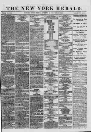 THE NEW YORK HERALD. WHOLE NO. 8786. MORNING EDITION-FRIDAY, SEPTEMBER 28, 18G0.-TRIPLE SHEET. TRICE TWO CENTS ?AL?? A9...