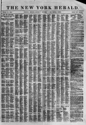 THE NEW YORK HERALD. WHOLE NO. 8794. MORNING EDITION-SATURDAY, OCTOBER 6, 1S60.-TRIPLE SHEET. PRICE TWO CENTS. LIST OF...