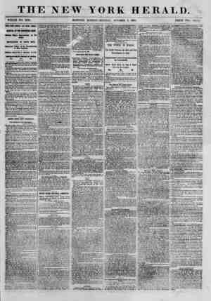 THE NEW YORK HERALD. WHOLE NO. 8796. MORNING EDITION?MONDAY, OCTOBER 8, I860. PRICE TWO CENTS. MEWS FROM CENTRAL AND SOCTfl