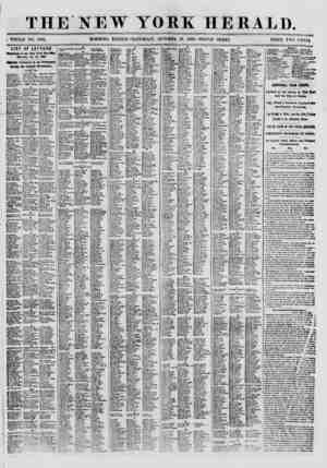 "THE NEW YORK HERALD. ; KnULE NO. 8801. ""O""""""""0 EDITIOS -SATHRDAT, OCWBER 13. 1869 ?TRIPLE SHEET. PRICE T.VU CENTS. LIST OF"