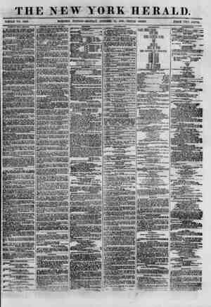 """THE NEW YORK HERALD. ? _ , """"^^flNG EDITION-MONDAY, OCTOBER 15, 1860.-TRIPLE SHEET. PRICE TWO CENTS. WHOLE NO. ooUo. RAUBS OF"""