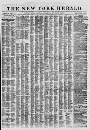 THE NEW YORK HERALD. WHOLE NO. 8808. MORNING EDITION -SATURDAY, OCTOBER 20, 1860.-TRIPLE SHEET. PRICE TWO CENTS. LIST OF...