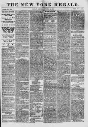 THE NEW YORK HERALD. WHOLE NO. 8809. SUNDAY MORNING, OCTOBER 21, 1860. PRICE TWO CENTS. THE PRINCE'S DEPARTURE. The Ron of