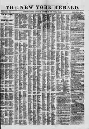 THE NEW YORK HERALD. WHOLE NO. 8815. MORNING EDITION- SATURDAY, OCTOBER 27, 1860.-TRIPLE SHEET. PRICE TWO CENTS. LIST OF...