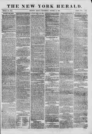 THE NEW YORK HERALD. WHOLE NO. 8819. MORNING EDITION-WEDNESDAY, OCTOBER 31, 1860. PRICE TWO , :\ rs. IMPORTANT FROM MEXICO.