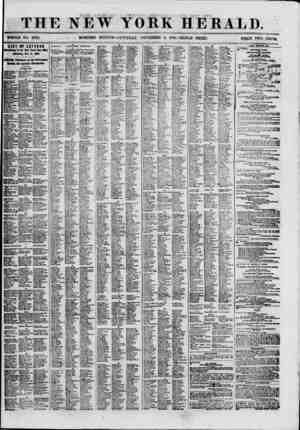THE NEW YORK HERALD. WHOLE NO. 8822. MORNING EDITION-SATURDAY, NOVEMBER 3. 1660.-TRIPLE SHEET. PKIUifi TWO CENTS. LIST OF...
