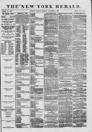 THE'NEW YORK HERALD. WHOLE NO. 8825. MORNING EDITION-TUESDAY, NOVEMBER 6, 1860. PRICE TWO CENTS. THE ELECTION TO-DAY. Volls