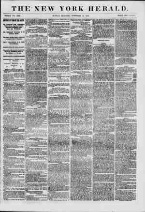 THE NEW YORK HERALD. WHOLE NO. 8830. SUNDAY MORNING, NOVEMBER 11, 1860. PRICE TWO CENTS. BIPORTA\T FROfl TBE SOITH. Ovr...