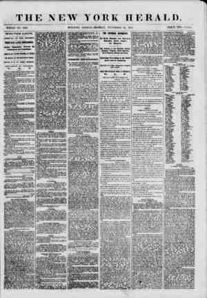 """THE NEW YORK HERALD. WHOLE NO. """"8831. MOKNING EDITION-MONDAY, NOVEMBER 12, 1860. PRICE TWO CENTS. NEWS FROM EUROPE. ARRIVAL"""