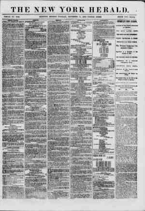 """THE NEW YORK HERALD. """"WHOLE NO. 8832. MORNING EDITION- TUESDAY, NOVEMBER Hi, 18G0.-TRIPLE SHEET. PRICE TWO CENTS. C1BMT&AL,"""