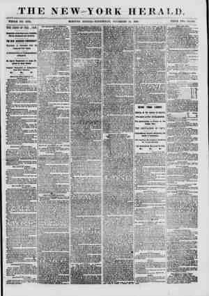 """THE NEW YORK HERALD. """"WHOLE NO. 8833. MORNING EDITION- WEDNESDAY, NOVEMBER 14, 1860. PRICE TWO CENTS. THE CRISIS OF TEE..."""