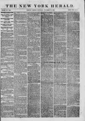 THE NEW WHOLE NO. 8834. I YORK HERALD. EDITION-THURSDAY, NOVEMBER 15, 18(50. PRICE TWO CENTS. THE80UTHERI SECES8I0I I0YEIE1T