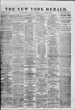THE NEW YORK HERALD. WHOLE NO. 8840. MORNING EDITION? TUESDAY, NOVEMBER -'7. 1860.-TRIPLE SHEET. TRICE TWO Cj?NTS. MIM'I'ltf.