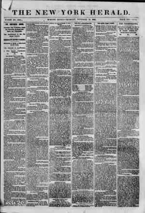 "4~ , -ijjBfe fr""' ""? m  .? THE NEW YORK HERALD. WHOLE NO. 8818.. MORNING EDITION? TIIU HSD A 7, NOVEMBER 29, 186#. PRICE TWO"