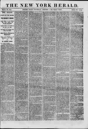 THE NEW YORK HERALD. ? WHOLE NO. 8854. MORNING EDITION? WEDNESDAY, DECEMBER 5, 1800.-TRIPLE SnEET. PRICE TWO CENTS. THE...
