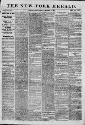 THE NEW YORK HERALD. ( ^TflOLE NO. 8870. MORNING EDITION? FRIDAY , DECEMBER 21, 1880. PRICE TWO CENTS. IMPORTANT FROM TOE...