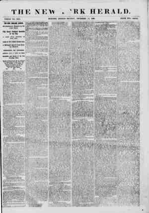 T H E N E Vv . WHOLE NO. 8873. MOltNING EDITION EEK HERALD. MONDAK, DECEMBER 24, 1860. PRICE TWO CENTS. THE NEW ENQLAND...